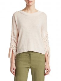 Zora Tie Sleeve Sweater at Saks Fifth Avenue