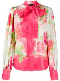 abstract floral print blouse at Farfetch