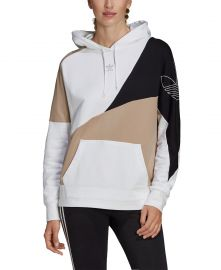 adidas Women s Cotton Colorblocked Hoodie   Reviews - Women - Macy s at Macys