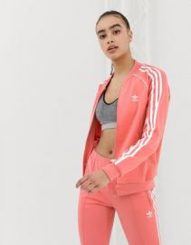 adidas Originals track jacket in pink   ASOS at Asos