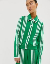 adidas Originals x Ji Won Choi belted track jacket in green   ASOS at Asos