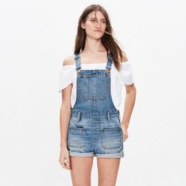 adirondack short overalls in isley wash at Madewell