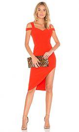 aijek Valencia Cold Shoulder Dress in Rouge from Revolve com at Revolve