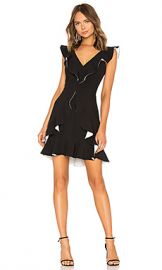 aijek Verona Ruffled Dress in Black  amp  White from Revolve com at Revolve