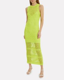 alc MONAGHAN EYELET MIDI DRESS at Intermix