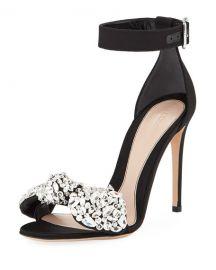 alexander mcqueen Crystal Bow dOrsay Sandal at Bergdorf Goodman