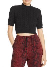 alexanderwang t Cable Knit Crop Top Women - Bloomingdale s at Bloomingdales