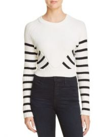 alexanderwang t Striped Crop Sweater Women - Bloomingdale s at Bloomingdales