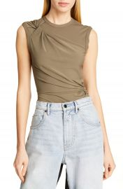 alexanderwang t Twisted Crepe Jersey Top   Nordstrom at Nordstrom