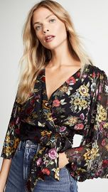 alice   olivia Bray Wrap Blouse at Shopbop