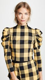 alice   olivia Brenna Puff Sleeve Top at Shopbop