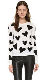 alice   olivia Carey Hearts Crew Neck Sweater at Shopbop