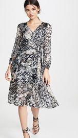 alice   olivia Coco Plunging V Neck Dress at Shopbop