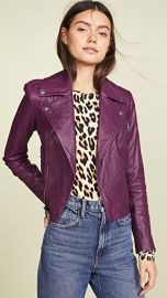alice   olivia Cody Leather Jacket at Shopbop