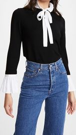 alice   olivia Cornelia Pullover with Ruffle Tie Neck and Cuffs at Shopbop