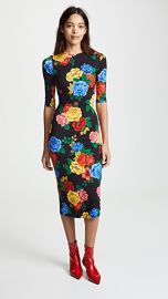 alice   olivia Delora Fitted Crew Neck Dress at Shopbop