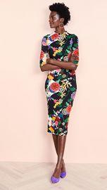 alice   olivia Delora Fitted Midi Dress at Shopbop