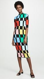 alice   olivia Delora Fitted Mock Neck Dress at Shopbop