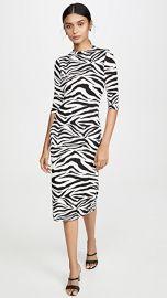 alice   olivia Delora Fitted Mock Neck Dress at Shopbop