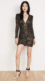 alice   olivia Diaz Plunging V Neck Draped Dress at Shopbop
