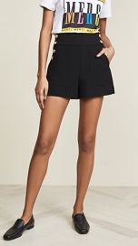 alice   olivia Donald High Waist Side Button Shorts at Shopbop