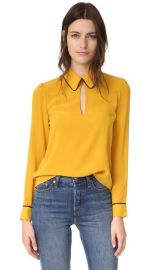 alice   olivia Edith Keyhole Blouse at Shopbop