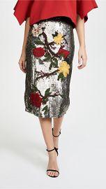 alice   olivia Ella Embellished Sequin Midi Skirt at Shopbop