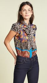 alice   olivia Jeannie Bow Blouse at Shopbop