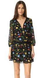 alice   olivia Jolene Embroidered Smocked Waist Dress at Shopbop