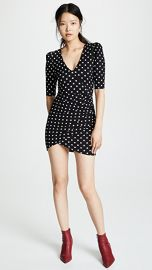 alice   olivia Judy Short Sleeve Ruched Dress at Shopbop