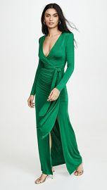 alice   olivia Kyra Deep V Drapey Maxi Dress at Shopbop