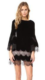 alice   olivia Leann Bell Sleeve Velvet Tunic Dress at Shopbop