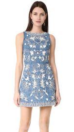 alice   olivia Lindsey Embroidered Pouf Dress at Shopbop