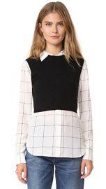 alice   olivia Lucinda Sweater Vest Combo Shirt at Shopbop