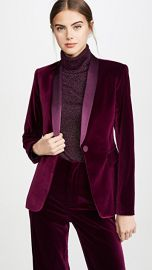 alice   olivia Macey Fitted Strong Shoulder Blazer at Shopbop