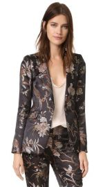 alice   olivia Macey Strong Shoulder Blazer at Shopbop