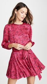 alice   olivia Mina Puff Sleeve Godet Dress with Belt at Shopbop