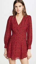 alice   olivia Polly Strong Shoulder V Neck Dress at Shopbop