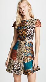 alice   olivia Rapunzel Patchwork Curved Hem Dress at Shopbop