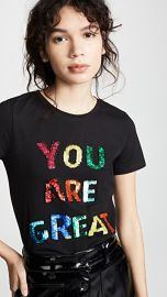 alice   olivia Rylyn Embellishment Short Sleeve Crew Neck Tee at Shopbop