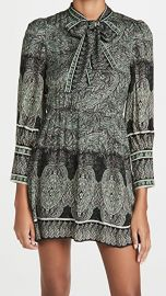 alice   olivia Tanisha Flare Dress with Neck Tie at Shopbop