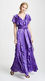 alice   olivia Tessa Ruffle Godet Dress at Shopbop