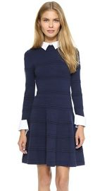 alice   olivia Textured Collared Dress at Shopbop