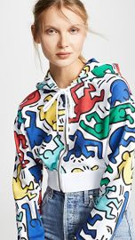 alice   olivia x Keith Haring Barron Cropped Wide Sleeves Hoodie at Shopbop