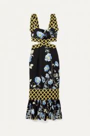 alice McCALL - Flower Girl cutout floral-print crepe de chine midi dress at Net A Porter