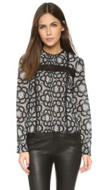 alice and olivia Angeline Pintuck Blouse at Shopbop