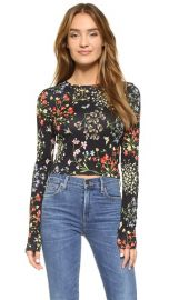 alice and olivia Delaina Cropped Crew Neck Tee at Shopbop