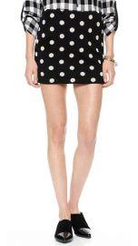 alice and olivia Elana Polka Dot Miniskirt at Shopbop