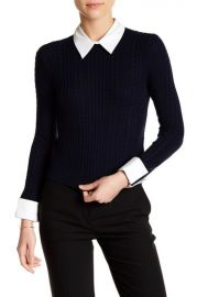 alice and olivia GILA CABLE KNIT SWEATER at Nordstrom Rack
