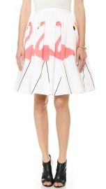 alice and olivia Hale Flamingo Puff Skirt at Shopbop